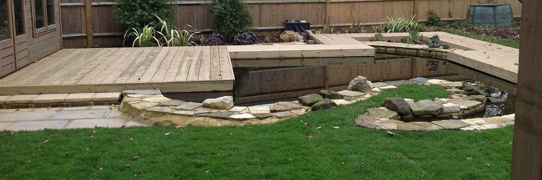 G j hearne sussex paving brickwork and landscaping - Build pond wildlife haven ...
